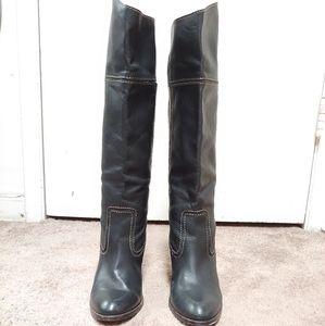 Below knee tall boots